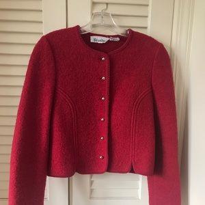,Classic vintage boiled wool ladies jacket size 6